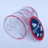 儿童玩具PVC圆筒盒定做柯式印刷卷边透明塑料圆筒圆形包装盒批发