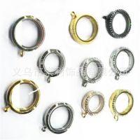 速卖通货源DIY圆形带钻相框吊坠相盒情侣项链配件质优价廉