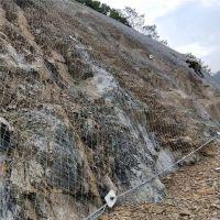 边坡防护绿化 钢丝绳网定做 sns防护网安全方案