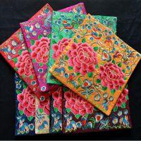 中国风布艺礼品牡丹花绣片可做鼠标垫餐垫电话垫瓶垫外事礼品