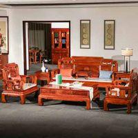 实木红木沙发古典家具-花梨木沙发-缅甸花梨国色天香沙发7件套组合-红木家具厂供应