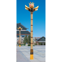 阿坝玉兰灯新款多火 毕节特色13米15米玉兰灯 科尼星10米高低臂路灯