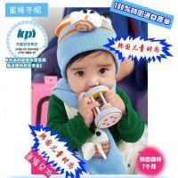 韩国秋冬款毛线童帽 蜜蜂儿童帽子围巾套帽 针织帽 保暖帽 批发