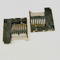 MICRO SD卡座 内焊自弹式卡座 MICRO SD PUSH卡座连接器 常开型