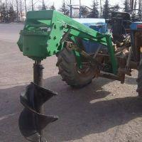 路桩栽植挖坑机 植树拖拉机挖坑机 大棚立柱拖拉机钻孔机