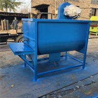 采用不锈钢材质搅拌机 养殖场均匀搅拌混料机 青州饲料搅拌机