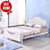 欧式出租软靠铁艺双人床铁环保1.5米公主床1.8米公寓架子床宾馆床