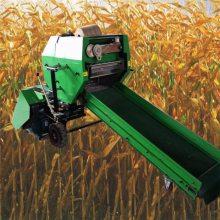 杂草秸秆打包机 麦草植物打捆机 圆捆饲料包膜机