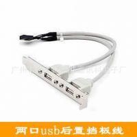 两口USB挡板线 主板USB20挡板线 USB后置挡板线 2口电脑USB扩展器