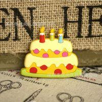 工厂供应 软胶磁性冰箱贴 磁性贴PVC 软胶广告冰箱贴 蛋糕造型