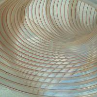 塑料透明镀铜钢丝增强软管木工机械通风吸尘软管伸缩耐高温耐压PU软管