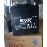 埃索蓄电池EX150-12 埃索EXOR蓄电池12V80AH代理商价格\标准尺寸