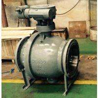 Q347Y国标铸钢高温固定式金属硬密封球阀