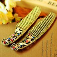 欧美外贸饰品批发 复古做旧精致小巧蝴蝶梳子 蜻蜓梳子 美发工具