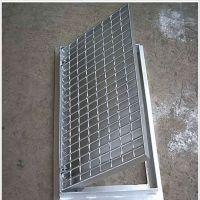 下水道排污池格栅盖板 热镀锌齿形防滑钢格栅板 网格钢格板脚踏网