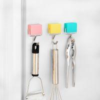 1642日式创意超强吸力磁性挂钩 微波炉冰箱无痕挂磁铁挂钩 免钉