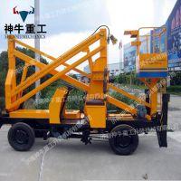 现货供应自行曲臂式升降机升高14米室外高空作业维修车