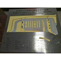 不锈钢三维盲文导向地图定做 金属盲文凸字导向图 可来图来样定制