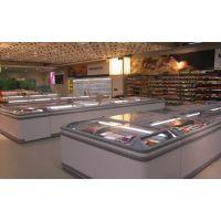 绿缔超市组合岛柜卧式冰柜商用冰箱海鲜冷藏冷冻展示柜无霜-22度