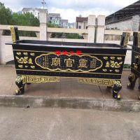 铸铁长方形平口象脚香炉 广东清远庙宇香炉供应商