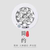 贝奇拉工程照明灯具 智能吸顶灯人体感应消防应急过道声控雷达现代简约LED灯