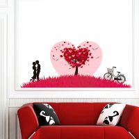 墙贴 儿童房幼儿园墙面装饰背景墙红色恋人自粘可移除贴纸pvc壁纸
