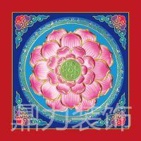 盛古装饰古建寺庙吊顶彩色莲花PVC板装饰材料