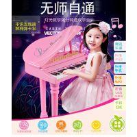 宝丽正品儿童电子琴带麦克风早教益智乐器钢琴音乐玩具一件代发