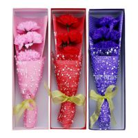 母亲节香皂花5朵康乃馨花束礼盒创意可订制高档节日礼物