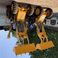 台州小型挖掘机铲车改装俩头忙视频中首重工铲车改挖机