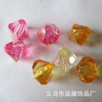 【厂家直销】水晶算盘珠子 亚克力透明水滴形尖底 散珠现货
