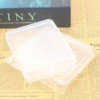 透明塑料简约方形洗脸扑盒子 收纳盒首饰盒饰品粉扑盒子