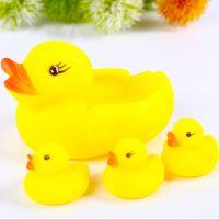 网亲子母水叫叫黄鸭一大三小香港捏响捏叫戏水玩具洗澡戏洗澡儿童