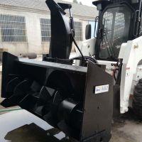 市政环卫除雪车-鲁工铲车抛雪机厂家直销滑移装载机2米铲雪车