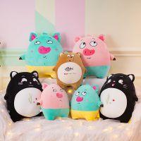 爆款表情熊猫猪毛绒玩具玩偶超低价公仔软体羽绒棉生日情人节礼物