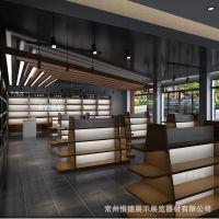 超市酒类展示架钢木质但双面红酒货架洋酒白酒酒店酒柜货架