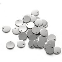 亚马逊速卖通热卖银色钛钢不锈钢钢色圆牌圆形小吊坠配件