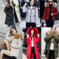 杭州工厂清仓便宜尾货棉服羽绒服处理杂款韩版女装外套棉服清仓中长款修身外套