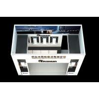 企业展台设计搭建 展台布置细节 广州展览展示3D模型效果图