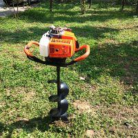 小型手拉便携式打坑机 汽油种树挖坑机