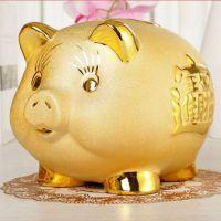 jsh超大号超大号猪打不开生日礼物一件代发开业送礼金猪存钱罐大