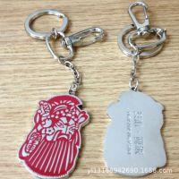 日本猫钥匙扣 动漫周边饰品铁小梅金属钥匙环彩色挂件挂坠批发