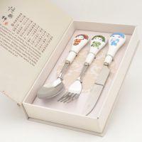 Q版卡通脸谱餐具刀叉双勺套装中国风国粹京剧礼物创意实用礼物