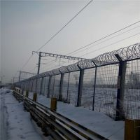 供应铁路防护栅栏 刺丝滚笼防护栅栏
