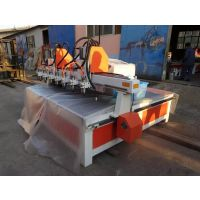 供应潍坊家具雕刻机多头木工雕刻机的价格生态板密度板 雕刻机