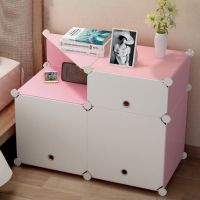 卧室创意储物柜多功能出租屋多层收纳小柜子办公室简易迷你开门式