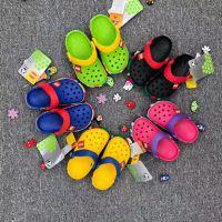 外贸原单cross2018新款童鞋儿童沙滩洞洞鞋童鞋小乐高男女童凉鞋