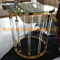来图来样定制加工不锈钢酒店家具:玫瑰金、钛金、古铜茶几、茶桌、体闲桌,林方不锈钢简约现代家具制做