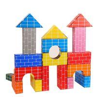 儿童仿真纸砖积木幼儿园中大班建构区角游戏玩具diy纸盒