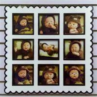 厂家直销定制 高档 韩式 儿童 九宫格照片墙 喷烤漆双层板  相框